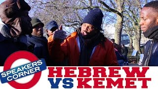 Hebrew Israelite Confronted By Kemetics & Confounds Christian | Speakers Corner