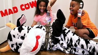 Bad Baby MAD COW ATTACKS! - Shiloh and Shasha - Onyx Kids