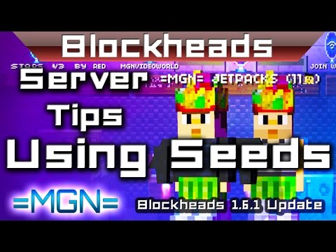 Blockheads 1.6.1 - Using seeds! -- by =MGN=RedEagle