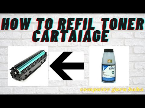 how to refilling canon printer 2900 printer cartridge same 12a