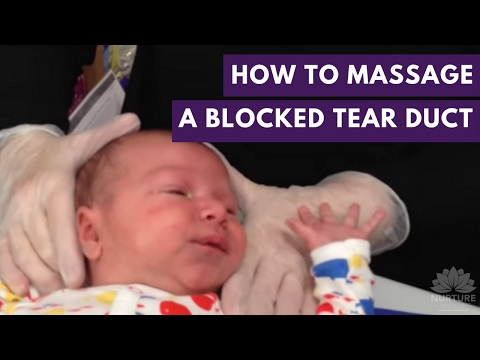 How to massage a blocked tear duct