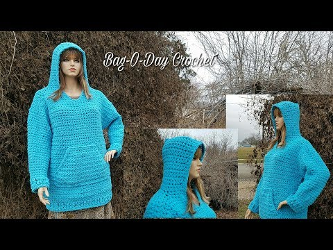 How To Crochet - CROCHET HOODIE | Plus Sized Hooded Sweatshirt | BAGOAY Crochet Tutorial #466