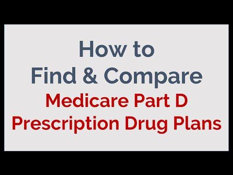 How to Find & Compare Medicare Part D - Prescription Drug Plans