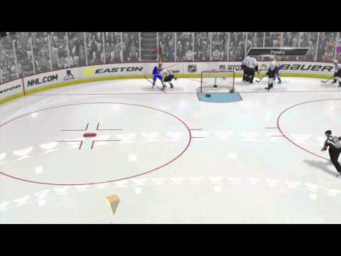 NHL 14: GOALIE GETS HIP CHECKED SERIOUS INJURY!