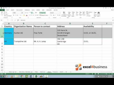 How to Hide and Unhide Rows and Columns in Excel