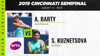 Ashleigh Barty vs. Svetlana Kuznetsova   2019 Western & Southern Open Semifinal   WTA Highlights
