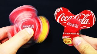 How to make Spinner Toy From Coca Cola