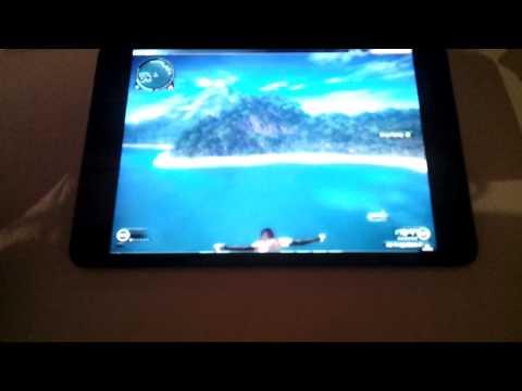 Just Cause 2 on iPad mini using Xbox 360 controller, Splashtop remote PC