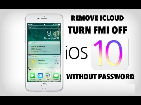 Turn FMI OFF and remove iCloud IOS 10.1.1 Iphone 7