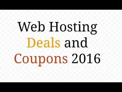 web hosting deals and coupons 2016