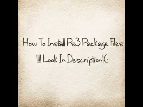 How To Install Packages On Ps3 (3.55)