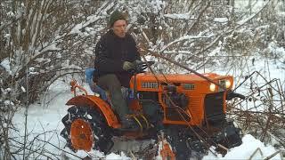 Traktorek Kubota 6001 mały czołg 4x4 . www.akant-ogrody.pl