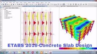 CSI ETABS 2016-Flat Slab Design, Strip Design and Punching