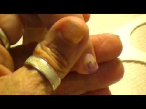 Rose nail art on small nails by Freeda Latham