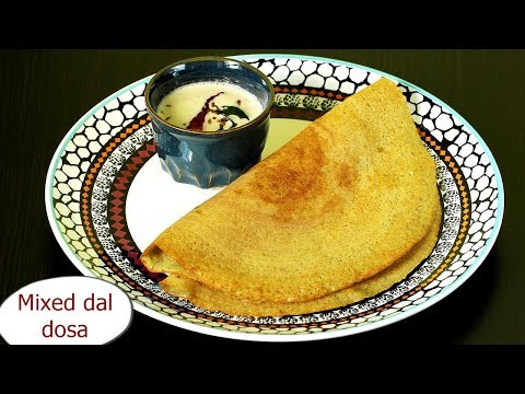 Mixed dal dosa without rice - High protein dosa without rice