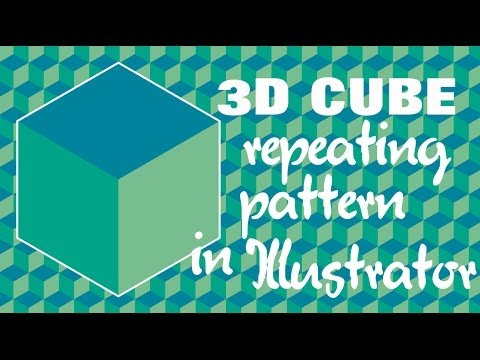 Create a Cube Repeating Pattern in Illustrator - Making Seamless Pattern Tiles