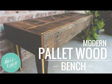 How to Make a Modern Pallet Wood Bench
