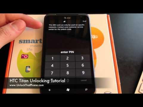 How to Unlock HTC Titan with Code + Full Unlocking Tutorial!! at&t tmobile orange bell o2 telus fido