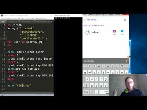 Making Snapchat Add Viewers Bot with Simple ADB and Shell Scripts!
