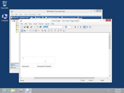 Windows 8.0 Professional - Create a Fax Cover Page