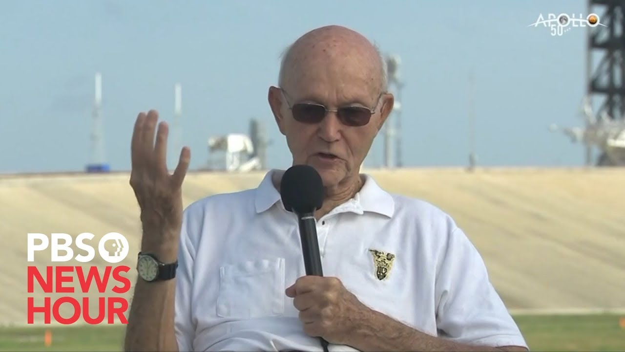 WATCH: Astronaut Michael Collins discusses the Apollo 11 launch 50 years later
