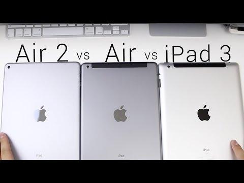 iPad Air 2 vs iPad Air vs iPad 3 (Hardware and Speedtest)