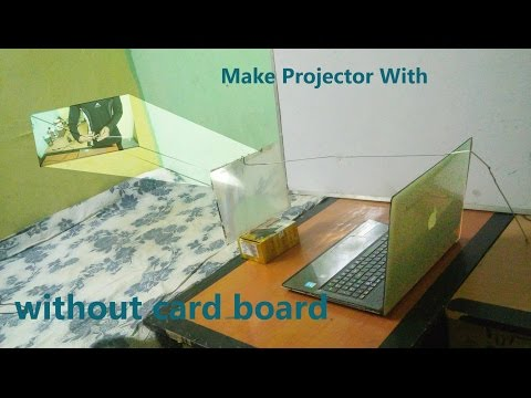 How to Make Laptop Projector With Lense Not Use  Extra Eccesories at your home 02