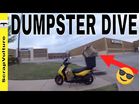 Just A Trip Home (DUMPSTER DIVING) From The Post Office