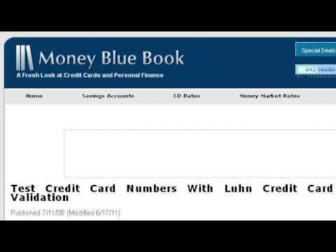 How To Check For A Valid Credit Card Number With Javascript