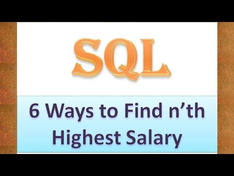 How to find nth Highest Salary in SQL ( 6 Methods )