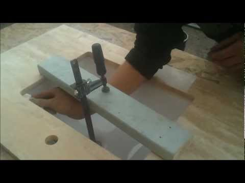 How to Glue Undermount Sink for Bathroom Vanity Countertop - Bath and Granite 4 Less