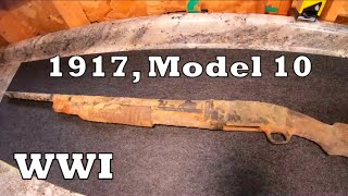 Gun Restoration, 1917 Remington Pump Action Shotgun.