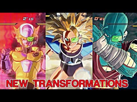 DRAGON BALL XENOVERSE 2: NEW Time Patroller Race Transformations(Golden Frieza,Saiyans, Giant Namek)