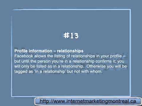 Facebook relationship status - Tip 13