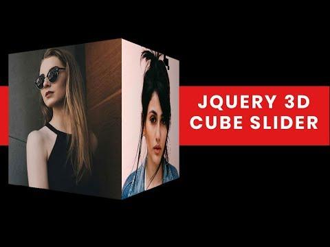 JQuery 3D Cube Slider Tutorial | 3D slider jquery | Jquery Plugin Tutorial
