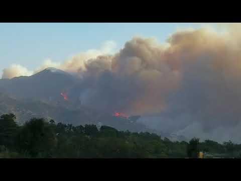 Thomas Fire Montecito Santa Barbara Cold Springs Canyon 2017