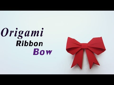 How to make a paper Bow/Ribbon 🎀 Easy origami Bow/Ribbons for beginners & Kids - DIY -Paper Work