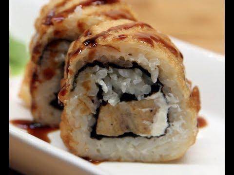 How to Make Sushi - Creamy Chicken Tempura Rolls