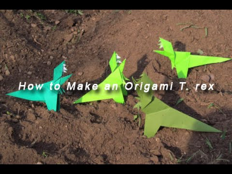 How to Fold an Origami T. rex