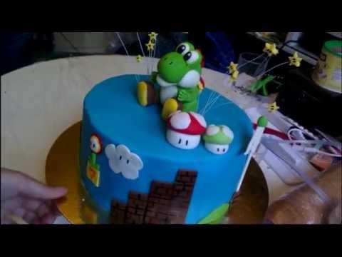 Super Mario Yoshi Cake
