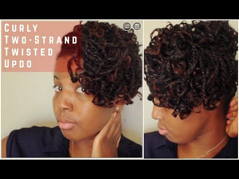 How To Create A Curly Two-Strand Twisted Updo