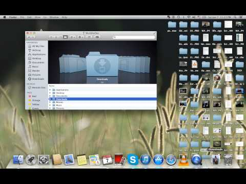 How to Replace Downloads on Dock - Mac OS X