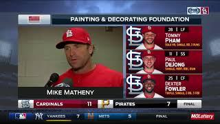 Matheny says Cardinals are sending Waino home for arm soreness