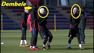 DEMBELE TRAINING with MESSI and SUAREZ !!!