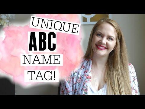 ABC BABY NAME TAG!! // UNIQUE NAMES!