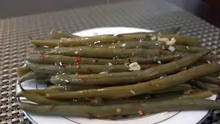 Green Bean Pickles  مخلل الفاصوليا الخضراء أواللوبياء، وصفة صحية للرجيم/ طرشي