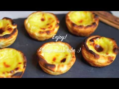 Easy recipe - how to make Pasteis de Nata (Portuguese egg tarts)