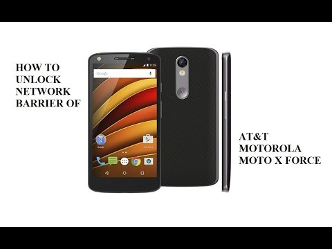 SIM Unlock MEXICO AT&T MOTOROLA MOTO X FORCE By Using IMEI To Use With All Networks