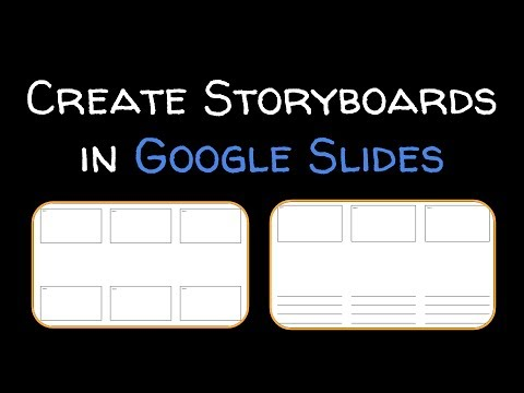 How to create a storyboard with Google Slides