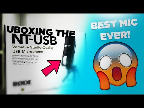Unboxing My First Ever Microphone, The Rode NT-USB Microphone! | The Best Microphone Ever?
